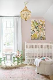 Pink And Green Nursery Decor Suzann Kletzien Black And White S Nursery Features Walls