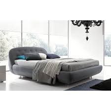 Queen Size Platform Bed - rossetto eclipse queen size platform bed in grey upholstery for