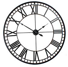 extra large roman big vintage black skeleton wall clock uk