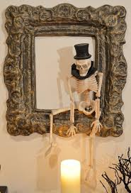 frame a frightful halloween memory behind this spooky skeleton