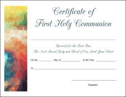 free printable baptism first communion and confirmation certificates