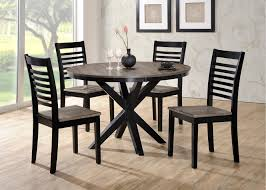 ebony and gray contemporary 5 piece round dining set south beach