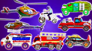 scary vehicles emergency street vehicles for children