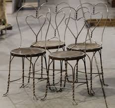 ice cream parlor table and chairs set wrought iron ice cream parlor chairs