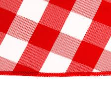 decor checkered gingham tablecloth in red and white for dining