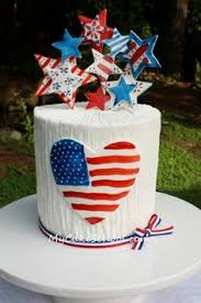 free cake tutorial for july 4th featuring painted accents