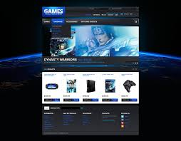 templates for video website website template 42634 video games console custom website template