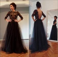 black long sleeve prom dress plus size naf dresses