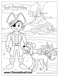 pirate boy coloring page tim u0027s printables