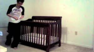 Hampton Convertible Crib by How To Put A Crib Together In 5 Seconds Youtube