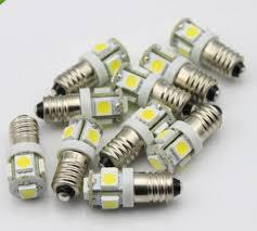 6 volt light bulb 10 pieces lot e10 12v volt 5 smd 1447 style led l light