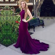 trumpet mermaid prom dresses silk like satin court train