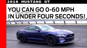 mustang v8 0 60 2018 ford mustang gt 60mph in four seconds