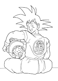 dragon ball anime goku and gohan coloring pages for kids