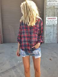 Define Tartan by Plaid Shirt Denim Shorts Camisa Xadrez Shorts Rasgado