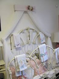 shabby chic princess bed crown canopy crib baby nursery decor