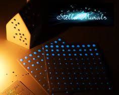 Star Decals For Ceiling by 18pcs Plastic Glowing In The Dark Moon Stars Stickers Wall Art