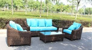 Patio Table Sets Sunbrella Curved Wicker Rattan Patio Furniture Set With Coffee