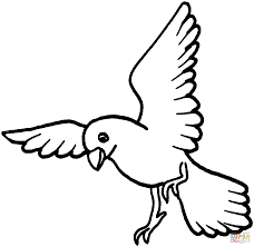 dove is landing coloring page free printable coloring pages