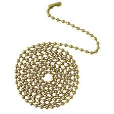 lighting chain by the foot westinghouse 12 ft solid brass beaded chain with connector 7704300