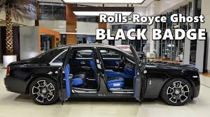 roll royce ghost rolls royce ghost black badge with bespoke interior youtube