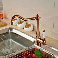 Gold Kitchen Faucet by Rose Gold Kitchen Faucet Swivel Spout Vessel Sink Mixer Tap