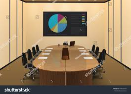 conference room interior realistic design chart stock vector