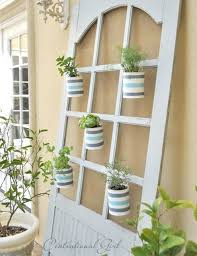 Hanging Herb Planters 17 Creative Ways To Repurpose An Old Door Vertical Herb Gardens