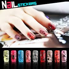 metallic nail foil wraps 3d design fashion nail black metallic stickers decals manicure