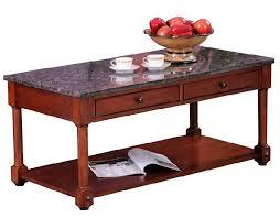 Granite Top Coffee Table Leick Furniture Terrace Granite Top Coffee Table