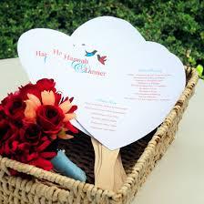 program fan diy heart program fan paper kit 50 pcs palm and bamboo