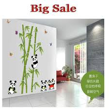 sell home decor hot sell wall stickers home decor panda bamboo background fashion