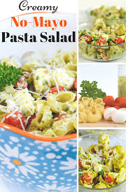 easy pasta salad creamy no mayo pasta salad housewife how to u0027s