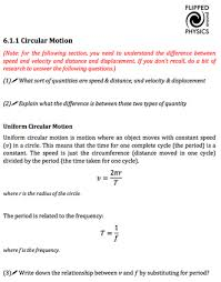 circular motion flipped around physics