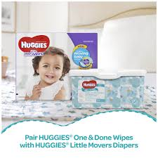 huggies one u0026 done refreshing baby wipes 56 ct 11 pk walmart com