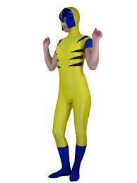 men wolverine spandex superhero zentai suit