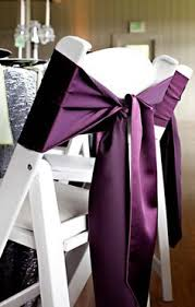 Purple Chair Sashes Creative Chair Sash Bows Purple Chair Cover Sash Chair Organza