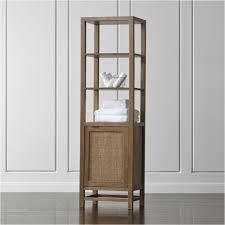 Single Shelf Bookcase Blake Grey Wash Tall Cabinet Crate And Barrel