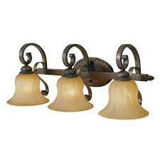 rustic bronze bathroom lighting interiordesignew com