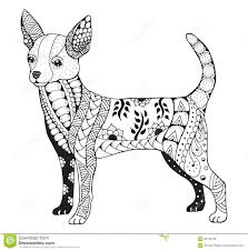Chihuahua Zentangle Stilisierte Vector Illustration Freihändig