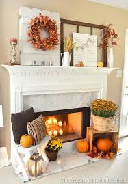 Frugal Home Decorating Ideas Diy Fall Mantel Decor Ideas To Inspire Landeelu Com
