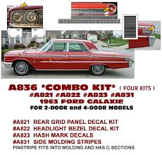 Classic Ford Truck Decals - graphic express 1968 ford galaxie 500 xl gt upper body stripe kit
