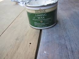 white pickling stain look with briwax liming wax for my dining