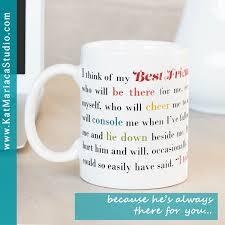 best friend gift i think of my best friend male coffee mug