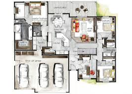real estate watercolor 2d floor plans part 3 on behance