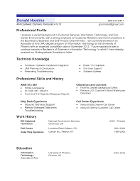 Sample Cra Resume by Sample Profile In Resume Resume For Your Job Application