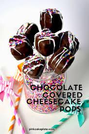 chocolate covered cheesecake pops baked cheese cake cheesecake