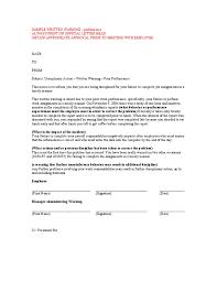 written warning sample letter