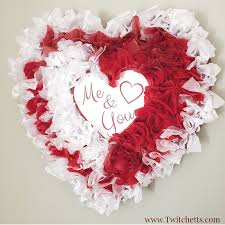 Valentines Day Decorations by Tissue Paper Heart Valentine U0027s Day Decorations Twitchetts
