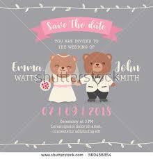 cute pink rose wedding invitation card imagem vetorial de banco